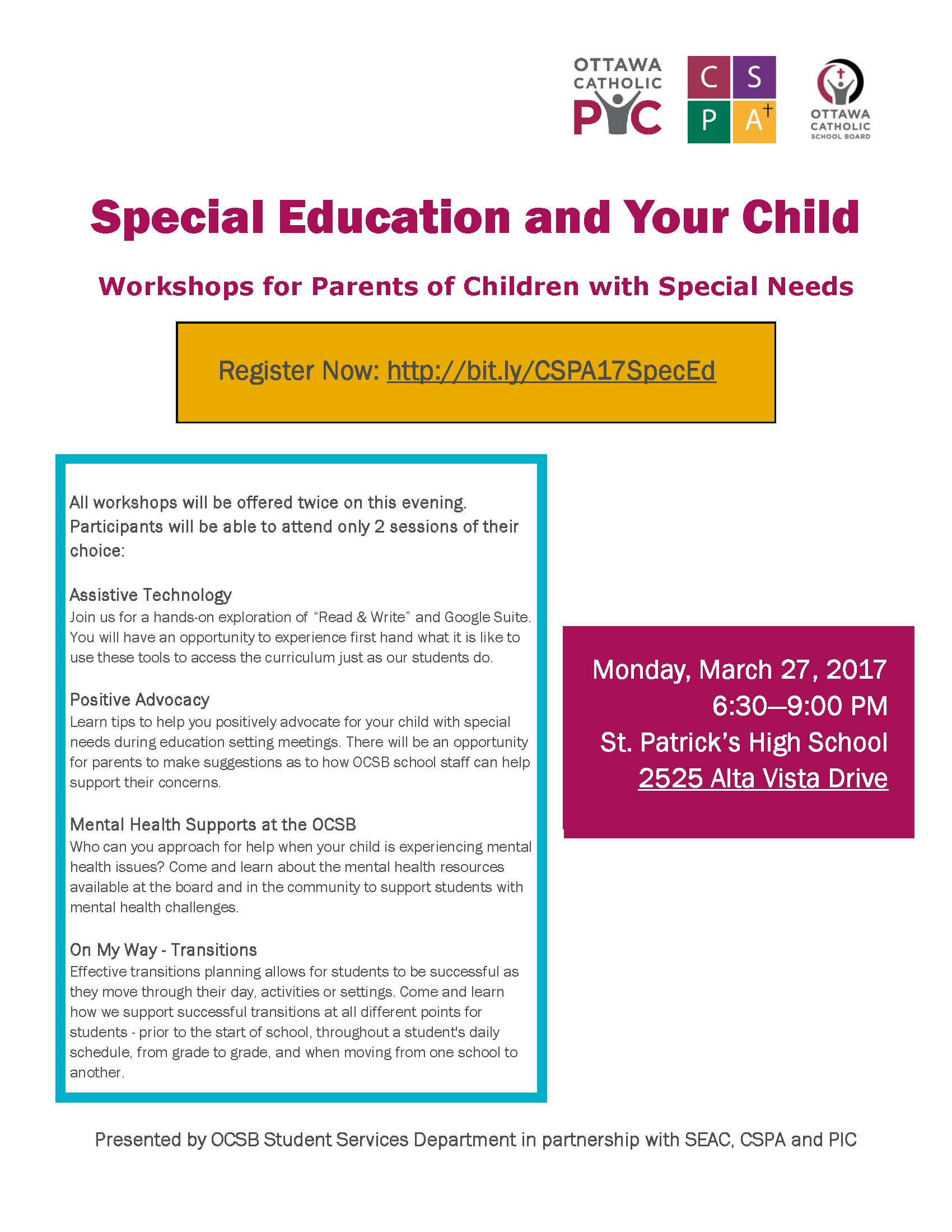 Special Education March 2017